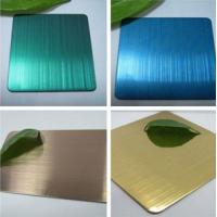 China hairline decorative stainless steel sheet with color gold/rose gold/bronze/black/blue wholesale