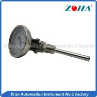 China Universal Mount Industrial Bimetal Thermometer / Mini Dial Faced Bimetal Thermometer wholesale