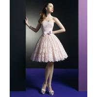 China Pink Lace Short dress Homecoming Cocktail Prom Dresses Graduation Prom Gowns on sale