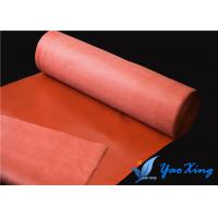 China 1.2mm Silicone Impregnated Fiberglass Fabric Customized Color For Welding Blankets wholesale