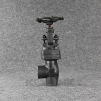 China Angle Type Forged Steel Globe Valve SW NPT Carbon Steel Angle Stop Valv wholesale