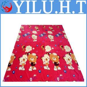 China flannelette flannel fleece printing blanket wholesale