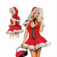 China Christmas Costume/Adult Santa Lingerie, Wholesale, Made in Faux, One Size, Low MOQ wholesale
