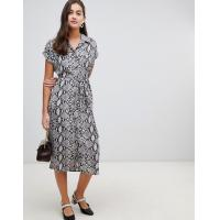 China OEM new style animal print grey girls midi shirt dress wholesale