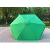 China Waterproof Green Round Beach Umbrella Uv Protection For Various Occasions wholesale
