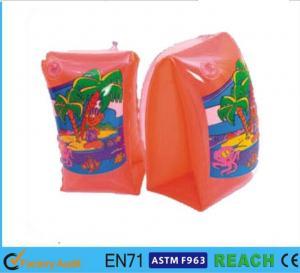 China Swimming Arm Ring Circle Orange Baby Swimming Ring Scratch Free PVC Water Tube wholesale