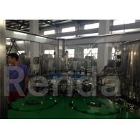 Packaging Liquid Water Bottle Filling Machine Equipment , Stainless Steel Filling And Capping Machines