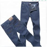 China Straight man zip fly big size man cheap jeans for work wholesale
