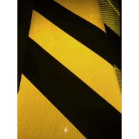 China Highway Reflective Reflective Safety Tape , Striped Chevron Hi Vis Reflective Bumper Tape wholesale