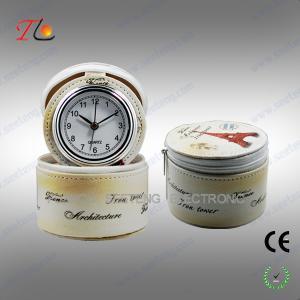 China customized jewelry box with travel alarm clock, desktop clock on sale