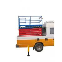 China 2.2Kw Manganese Steel Truck Mounted Scissor Lift with Four Wheel , 11 m wholesale