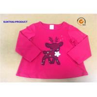 China Customized Children T Shirt 100% Cotton Long Sleeve Baby Girl Tee Shirts wholesale
