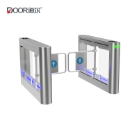 China Blushless Motor Waist Height Swing Gate IP65 Turnstile For Hospitals Schools wholesale