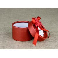 China Ranged Ribbon Decorate Cardboard Wedding Box Spot Color Printing Art Paper Cover on sale
