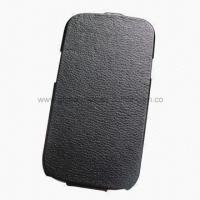 China Mobile Phone Case, Split Leather Case for Samsung Galaxy S3 wholesale