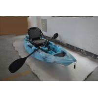 China HDPE Plastic Kayak Fishing Boats , Blue Camo Fishing Canoe Kayak Easy Car Top Mount wholesale