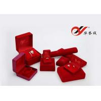 China Velvet Jewelry Box For Set Including Ring  Pendant Chain Bangle And Watch Box wholesale