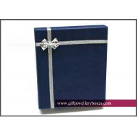 Quality OEM / ODM varnishing / foil stamping and CMYK / Full color packaging Necklace Gift Boxes with ribbon for sale