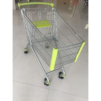 China 150L Supermarket Shopping Carts , Steel Shopping Trolley Passed CE And SGS wholesale