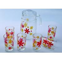 China 7PC Clear / Transparent Drinking Glasses Sets With 1 Kettle And 6 Glass DWDS06 wholesale