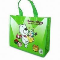 China Eco-friendly Non-woven Laminated Bag, Azo-free, Customized Sizes/Logos are Accepted on sale