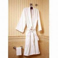 China Bathrobe, Made of Terry Towel Fabric on sale