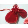 China Pretty Red Mini Velvet Drawstring Bag , Handmade Drawstring Gift Bags wholesale