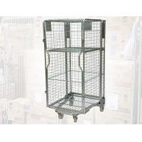 China Nesting Metal Cage Trolley Colorful Powder Coating Rolling Cage Cart on sale