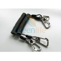 China High Security Steel Reinforced 125MM Long Black Plastic Stertch Coiled Bungee Cable wholesale
