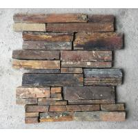 China Rusty Split Face Slate Z Stone Panel with Steel Wire Back,Natural Slate Stacked Stone Cladding wholesale