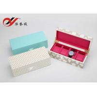 China Luxury Lacquer Wooden Watch Box OEM / ODM Logo Printing For Four Watch Package wholesale