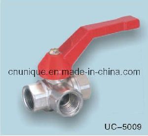 China 3-Way Brass Ball Valve (UC-5009) wholesale