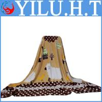 China 100% polyester super soft polyester travel bed throw blanket wholesale