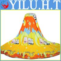 China cheap cartoon knitted baby flannel blanket wholesale