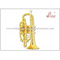 China Professional Cornet Musical Instrument , 121mm Bell Bb Cornet Brass Instrument on sale