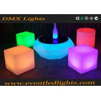PE Plastic Rechargeable Led Light Chair / Led Cube / Led Stool Colorful Manufactures