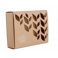 China Carved Window Shell Wrapping Paper Box Slide Brown Kraft Paper Box For Cosmetics wholesale