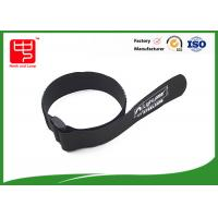 China Black velcro strap one side sticky backed velcro , 100% nylon cable ties with buckle wholesale