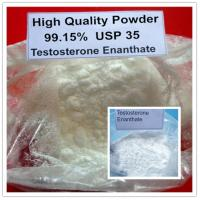 High Quality White Testosterone Enanthate Raw Powder For Burning Fat / Gaining