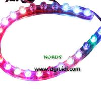 China RGB Silicone Led Strip 3MM  24cm  for car 1.5w IP65 waterproof  12V wholesale
