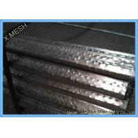 China 65mn Steel Mining Screen Mesh , Hooked Vibrating Rock Screen Galvanized 1.5m X 2m wholesale
