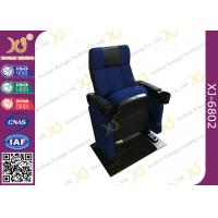 China SGS Foldable Metal Frame Movie Theater Seats With High Density Molded Foam wholesale