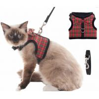 China Cute Cat Harness Collar With Heavy D Rings wholesale