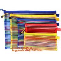 China Wholesale Office School Supply A4/5/6 Mesh Zipper Document Bag Multicolor PVC A4 Archives Contract,Office School Supplie on sale