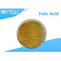 Quality Orange Yellow Powder Folic Acid Derivatives 99% CAS 59-30-3 VitaminB9 Nutritional Supplements for sale