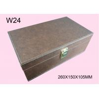 China Customized Brown Wooden Cosmetic Packaging Box, Wood Gift Boxes With Logo wholesale