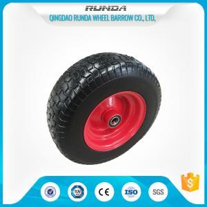 China ATV Pneumatic Heavy Duty Trolley Wheels16X6.50-8 Ribbed Pattern Straight Valve wholesale