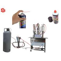 Semi Automatic Aerosol Filling Machine for Carburetor Cleaning Agent Can Manufactures