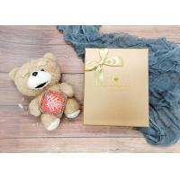 China Gold Small Cardboard Gift Boxes With Gold Bowknot , Individual Cardboard Boxes on sale