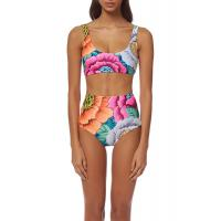 China High Waisted Floral Printing Womens Swimming Suits Tie Knot  2 Pcs Sets Swimwear wholesale